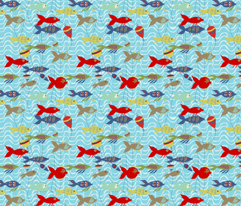 a_la_pêcheS fabric by nadja_petremand on Spoonflower - custom fabric