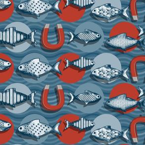Magnetic fish spot