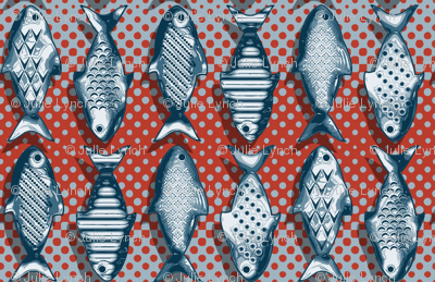 Metal fish red