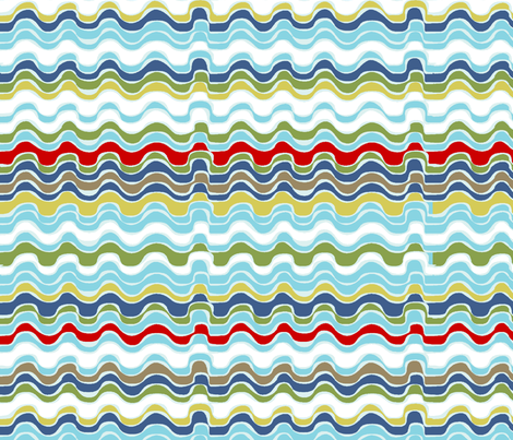 vagues_multico_M fabric by nadja_petremand on Spoonflower - custom fabric