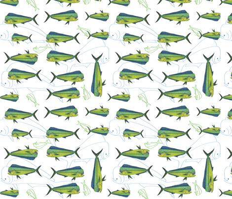 Salt Water Dorado fabric by annalisa222 on Spoonflower - custom fabric