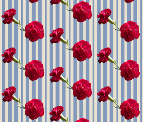 Ants on Carnations fabric by pond_ripple on Spoonflower - custom fabric