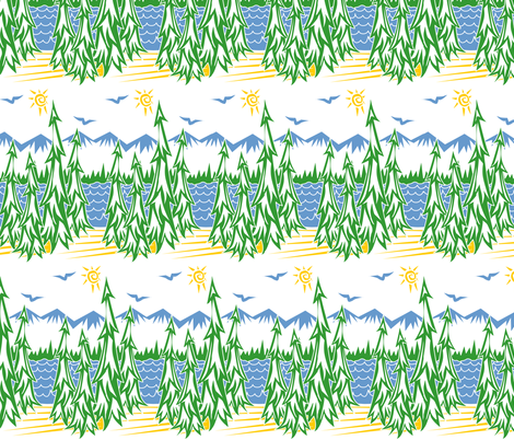 ©2011 Forest for the Trees fabric by glimmericks on Spoonflower - custom fabric
