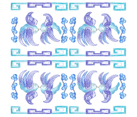 Blue Willow Inspired Napkin fabric by aa on Spoonflower - custom fabric