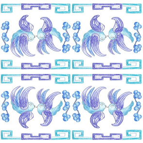 Blue Willow Inspired Napkin