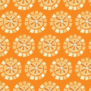 mod floral orange