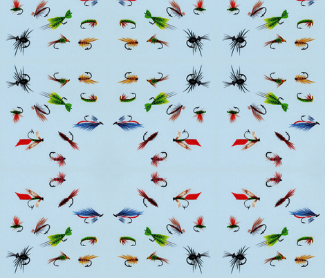 Dance of the Fishing Flies fabric by lothar on Spoonflower - custom fabric