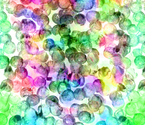 Daubed Dots Greenie fabric by feebeedee on Spoonflower - custom fabric
