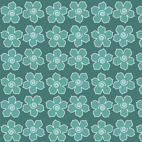 4metal_flowers_field_BLUEGREENS-175_CHEVREUL-sm fabric by mina on Spoonflower - custom fabric