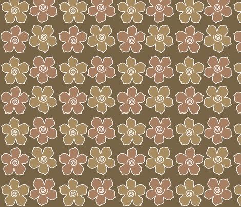 4metal_flowers_field_WARMBROWN_CHEVREUL-lg fabric by mina on Spoonflower - custom fabric