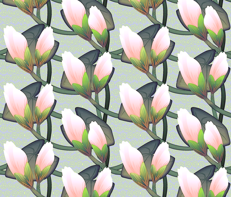 © 2011 Waterlily Midsize fabric by glimmericks on Spoonflower - custom fabric
