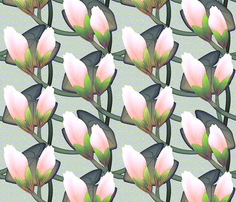 © 2011 Waterlily Midsize fabric by glimmericks on Spoonflower - custom fabric