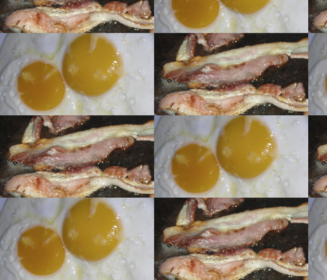 bacon_and_eggs fabric by graphicdoodles on Spoonflower - custom fabric