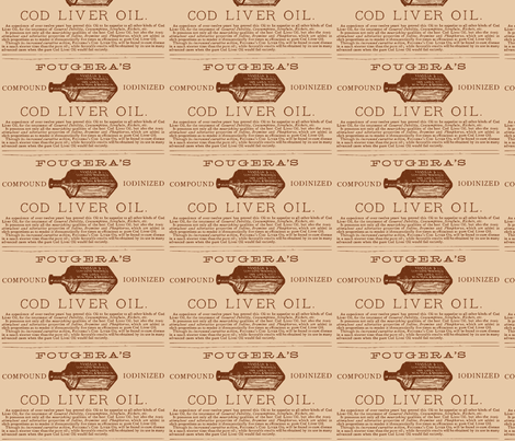 Cod Liver oil ad fabric by edsel2084 on Spoonflower - custom fabric