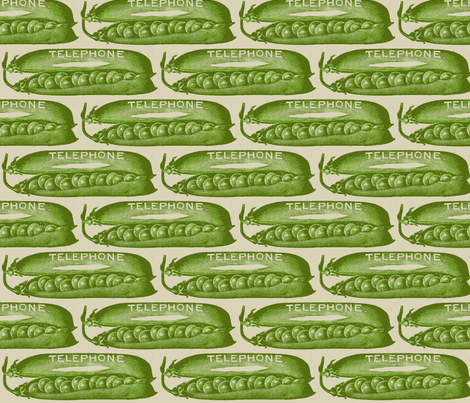 Peas in a Victorian Pod fabric by edsel2084 on Spoonflower - custom fabric