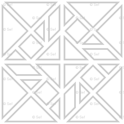 tangram rotated fretwork