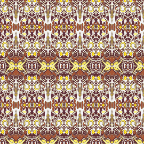 Egyptian deco revival ala Tiffany fabric by edsel2084 on Spoonflower - custom fabric