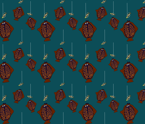 Alaskan Halibut fabric by corinnevail on Spoonflower - custom fabric