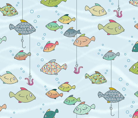 catch of the day fabric by littlerhodydesign on Spoonflower - custom fabric