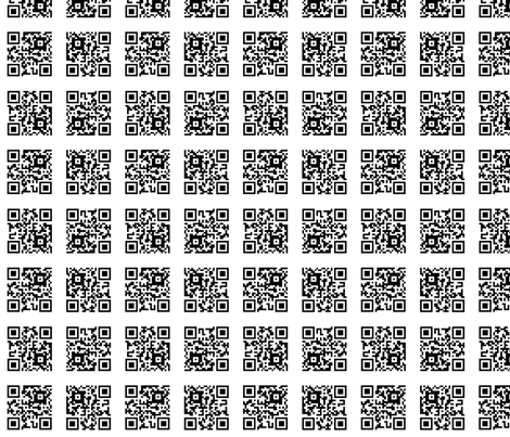 QR Code: Put Down Your Phone and Live fabric by jparryhill on Spoonflower - custom fabric