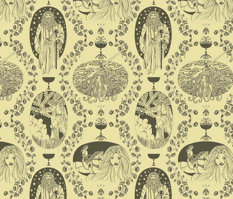 Tales of King Arthur - Antique fabric by uzumakijo on Spoonflower - custom fabric
