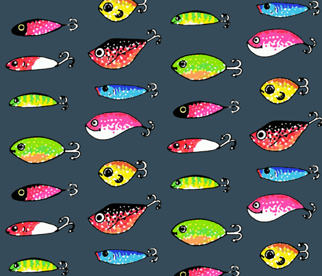 Something fishy fabric by shirayukin on Spoonflower - custom fabric