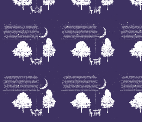 The Moon Pours White Wine fabric by cricketjeff on Spoonflower - custom fabric