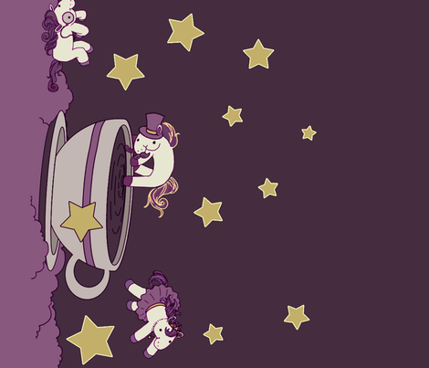 Lovely Horse Derpy Chan: Starlight Tea fabric by gabi-hime on Spoonflower - custom fabric
