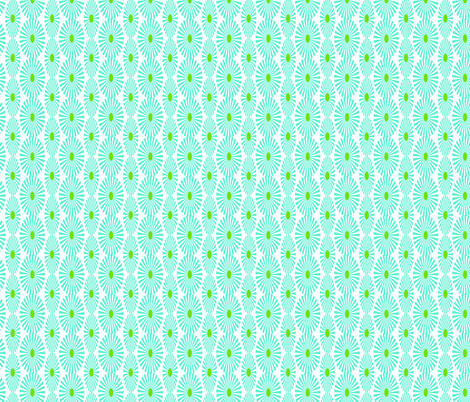 Turquoise flower field fabric by fleamarkettrixie on Spoonflower - custom fabric