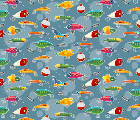 Lures fabric by theboerwar on Spoonflower - custom fabric