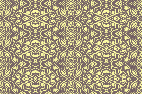 Lemon dancing on brown fabric by su_g on Spoonflower - custom fabric