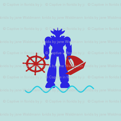 Robot and Beach Toys
