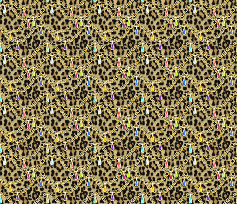 © 2011 Big Jewelled Leopard fabric by glimmericks on Spoonflower - custom fabric