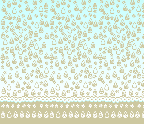 © 2011 Shower Storm 2  - Shower Curtain fabric by glimmericks on Spoonflower - custom fabric