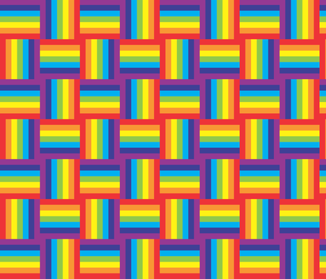 rainbow up-down-and-to-the-side fabric by majobv on Spoonflower - custom fabric