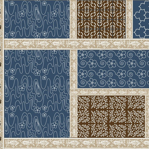 Fishing_Virtual_Batik_brown-tan-COBALT