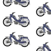 blue moped scooter Tunturi