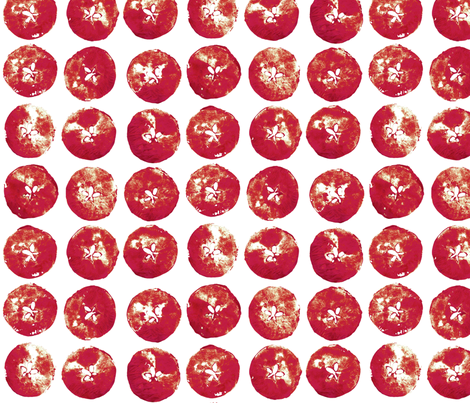 apple prints - red on white fabric by weavingmajor on Spoonflower - custom fabric