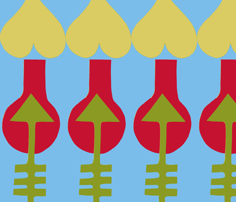 Cupid Stripes-ed fabric by boris_thumbkin on Spoonflower - custom fabric