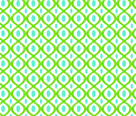 green crazy 8 fabric by fleamarkettrixie on Spoonflower - custom fabric