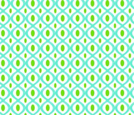 Turquoise crazy 8 fabric by fleamarkettrixie on Spoonflower - custom fabric