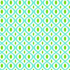 Turquoise crazy 8