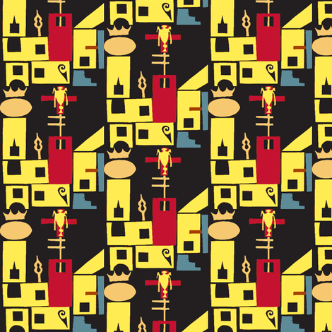 Castle-ed-ch fabric by boris_thumbkin on Spoonflower - custom fabric