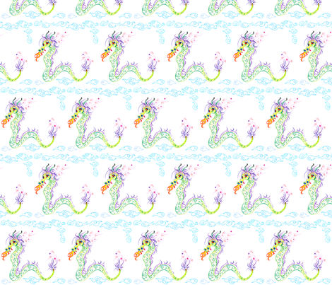 Dragon fabric by jadegordon on Spoonflower - custom fabric
