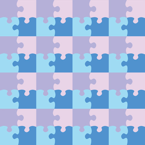 Puzzle_Motif_13 fabric by animotaxis on Spoonflower - custom fabric