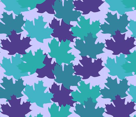 blue_leaves1 fabric by slkanitz on Spoonflower - custom fabric