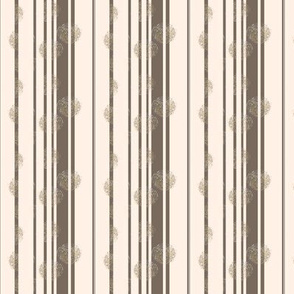 Abstract Stripes-1 grey on Cream