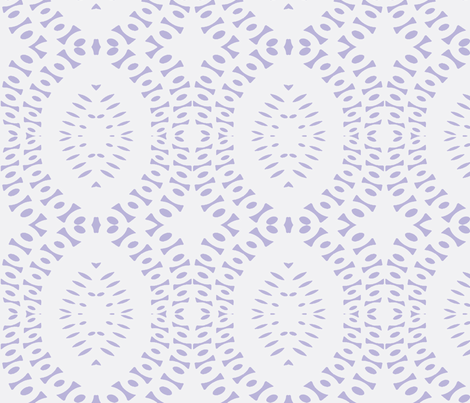 Grandma's Crocheted Bedspread on Freshly Washed Violet Sheets fabric by susaninparis on Spoonflower - custom fabric