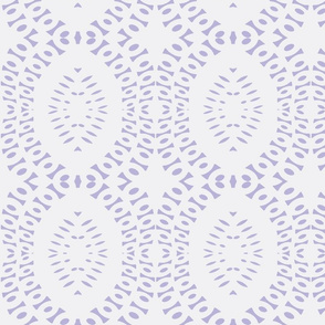 Grandma's Crocheted Bedspread on Freshly Washed Violet Sheets