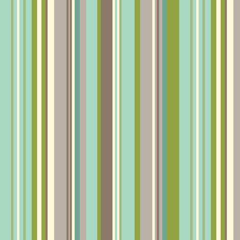 Daydreamer Stripe - Aqua & Taupe fabric by heatherdutton on Spoonflower - custom fabric